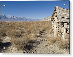 Old Rock Cabin At Dolomite Acrylic Print by Rich Reid