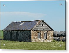 old rock house in ND. Acrylic Print by Bobbylee Farrier