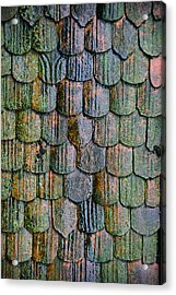 Old Roof Tiles Acrylic Print by Jen Morrison