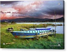 Old Row Boats Acrylic Print by Carlos Caetano