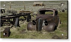 Old Rusted Car Acrylic Print by Richard Balison