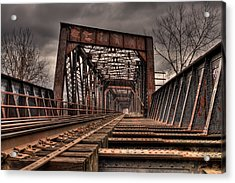 Old Rusty Bridge Acrylic Print by Darren Landis