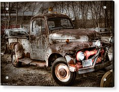 Old Rusty Acrylic Print by Jerri Moon Cantone