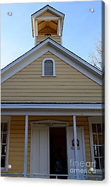 Old Sacramento California . Schoolhouse Museum . 7d11579 Acrylic Print by Wingsdomain Art and Photography