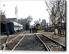 Old Sacramento Train Station Depot . 7d11635 Acrylic Print by Wingsdomain Art and Photography