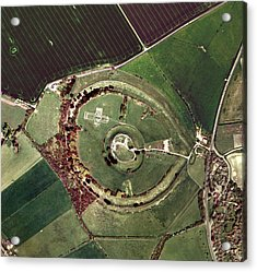 Old Sarum Acrylic Print by Getmapping Plc