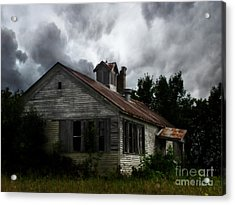 Old School House Acrylic Print by Ms Judi