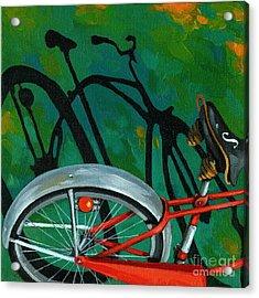 Old Schwinn Acrylic Print by Linda Apple