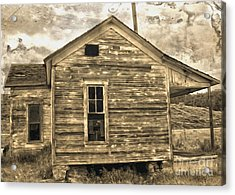 Old Shack Acrylic Print by Gregory Dyer