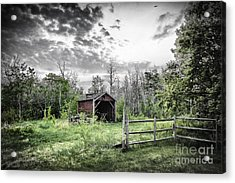 Old Shed Acrylic Print by Lori Frostad