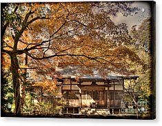 Old Shrine In Autum Acrylic Print