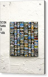 Old Spanish Postcards In Spanish Village Acrylic Print by Perry Van Munster