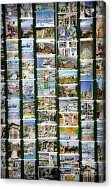 Old Spanish Postcards1 Acrylic Print by Perry Van Munster