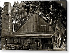 Old Spanish Sugar Mill Old Photo Acrylic Print by DigiArt Diaries by Vicky B Fuller