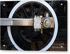 Old Steam Locomotive Engine 5 . The Little Buttercup . Train Wheel . 7d12916 Acrylic Print by Wingsdomain Art and Photography