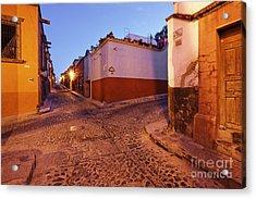 Old Street Intersection Acrylic Print by Jeremy Woodhouse
