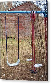 Old Swing Set-2 Acrylic Print by Todd Sherlock