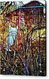 Old Swing Set Acrylic Print by Todd Sherlock