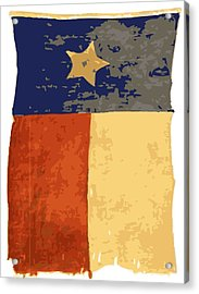 Old Texas Flag Color 16 Acrylic Print by Scott Kelley