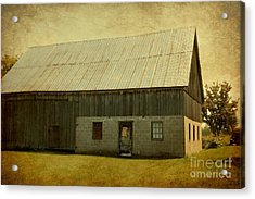 Old Textured Barn Acrylic Print by Sophie Vigneault