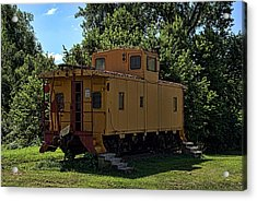 Old Time Caboose Acrylic Print by Tim McCullough