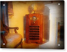 Old Time Radio Acrylic Print by Paul Ward