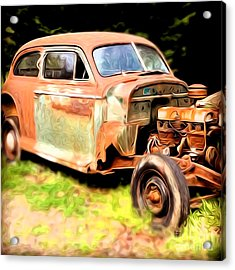 Old Timer Acrylic Print by Laura Brightwood