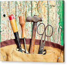 Old Tools Acrylic Print by Tom Gowanlock