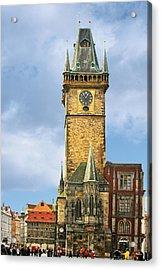 Old Town Hall Prague Cz Acrylic Print by Christine Till