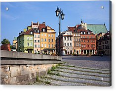 Old Town In Warsaw Acrylic Print by Artur Bogacki