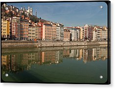 Old Town Of Lyon Acrylic Print by Niall Sargent