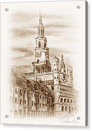 old town Poznan Acrylic Print by Danuta Bennett