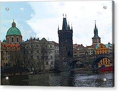 Old Town Prague Acrylic Print by Paul Pobiak