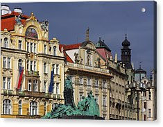 Old Town Square In Prague Acrylic Print by Christine Till