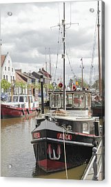 Old Town With Harbor Acrylic Print by Steve K