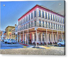 Old Towne Sacramento Acrylic Print by Barry Jones