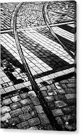 Old Tracks Made New Acrylic Print by Hakon Soreide
