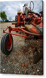 Old Tractor Acrylic Print by Mike Horvath