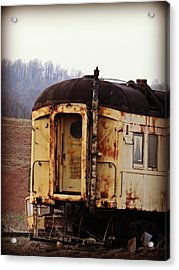 Old Train Car Acrylic Print by Brenda Conrad