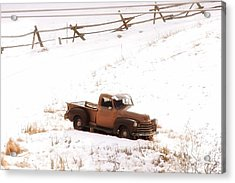 Old Truck Acrylic Print by Angelique Olin