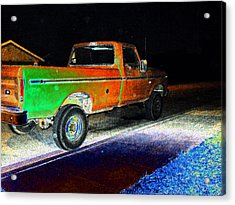 Old Truck At Night Acrylic Print