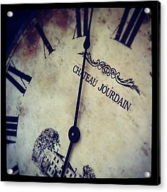 Old Vintage Clock With A Bit Of Unique Acrylic Print