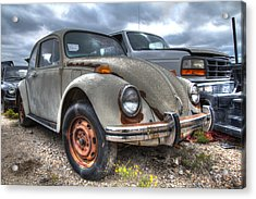 Old Vw Beetle Acrylic Print