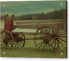 Old Wagon Fruit Stand Acrylic Print by Becca J