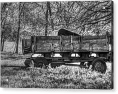 Old Wagon Acrylic Print by Lisa Moore