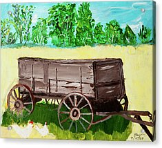 Acrylic Print featuring the painting Old Wagon by Swabby Soileau