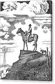 Old-west-art-cowboy Acrylic Print