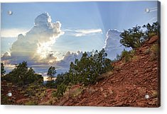 Old West Sunset Acrylic Print