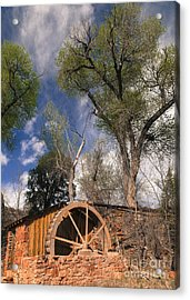 Old West Water Mill 1 Acrylic Print by Darcy Michaelchuk