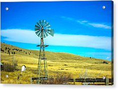 Acrylic Print featuring the photograph Old Windmill by Shannon Harrington